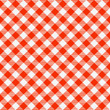 Red and white seamless checkered tablecloth Royalty Free Stock Photos