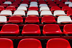 Red and white seats Stock Photo
