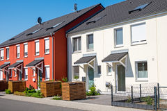 Red and white serial houses Royalty Free Stock Photo