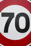 Red and White Seventy Speed Limit. Sign Royalty Free Stock Image