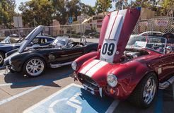 Red and white 1965 Shelby Cobra Royalty Free Stock Images