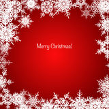 Red and white shiny Christmas snowflake background Royalty Free Stock Images