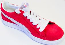 Red and white shoe Stock Image