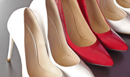 Red and white shoes Royalty Free Stock Images