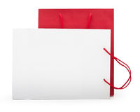 Red and white shopping bag Stock Image