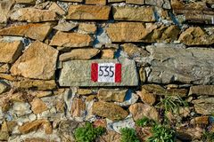 red and white signposts Royalty Free Stock Photos