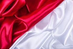 Red and white silk background Stock Photos