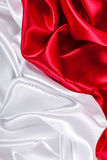 Red and white silk background Royalty Free Stock Photography