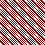 Red and White Small Polka Dots and Stripes Pattern Repeat Backgr. Ound that is seamless and repeats Stock Photography