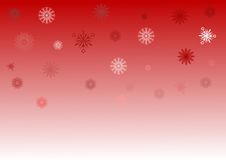 Red and white snowflake background Royalty Free Stock Photos