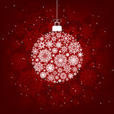 Red and white snowflakes. EPS 8 vector illustration