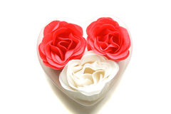 Red And White Soap Roses Royalty Free Stock Photo