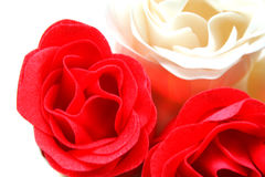 Red And White Soap Roses Stock Photo