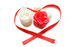 Red And White Soap Roses Royalty Free Stock Images