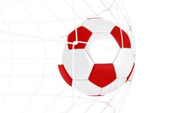 Red and White Soccer Ball Stock Images
