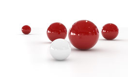 Red and White Sphere Royalty Free Stock Photos