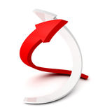 Red and white spiral growing arrows Royalty Free Stock Images