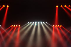 Red and white spot lights Royalty Free Stock Image