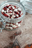 Red and white spotted beans Stock Images