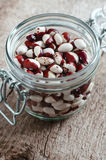 Red and white spotted beans Royalty Free Stock Image