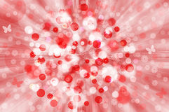 Red&white spring background Royalty Free Stock Photography