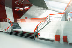 Red and white stairs royalty free illustration