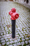 Red and white standpipe Royalty Free Stock Photos