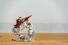 Statue in the Sahara Desert royalty free stock photo