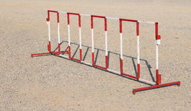 Red and white steel barrier Royalty Free Stock Photo