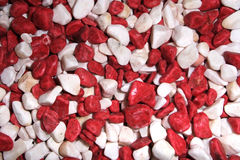Red and white stones Stock Photos