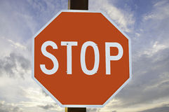 Red and White Stop Sign Royalty Free Stock Images
