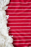 Red and White Stripe Background for Text Royalty Free Stock Photography