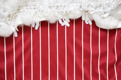 Red and White Stripe Copyspace Decorate with White Fabric Royalty Free Stock Images