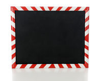 Red and White Stripe Framed Blackboard Stock Photo