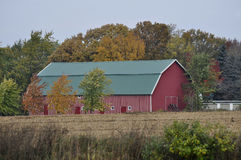 Red and White Striped Barn Royalty Free Stock Photography