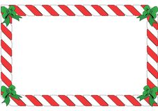 Red and White Striped Border vector illustration