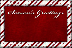 Red and White Striped Candy Cane Striped Background with Red Plu Royalty Free Stock Photography