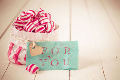 Red and white striped candy For You Stock Photos