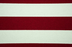 Red and white striped canvas texture Royalty Free Stock Images