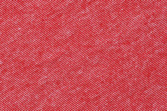 Red and white striped cotton polyester texture Royalty Free Stock Photos