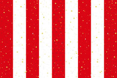 Red and white striped curtain with Japanese traditional design. golden and silver leaf. Royalty Free Stock Photos