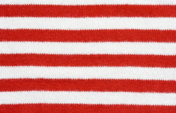Red and white striped fabric Royalty Free Stock Images
