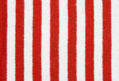 Red and white striped fabric Stock Photography