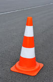 Red and white striped pylon Royalty Free Stock Photo