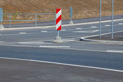 Red and white striped road signs Royalty Free Stock Images
