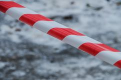 Striped tape that forbids passage royalty free stock photo