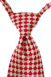 Red and White Striped Tie Isolated Stock Image