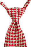 Red and White Striped Tie Isolated Stock Photography