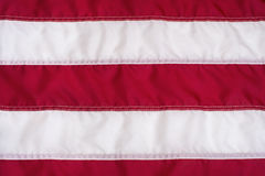Red and White Stripes on American Flag Stock Photography