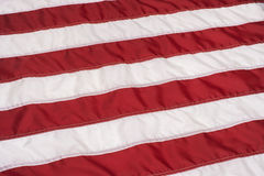 Red and White Stripes on American Flag Stock Image